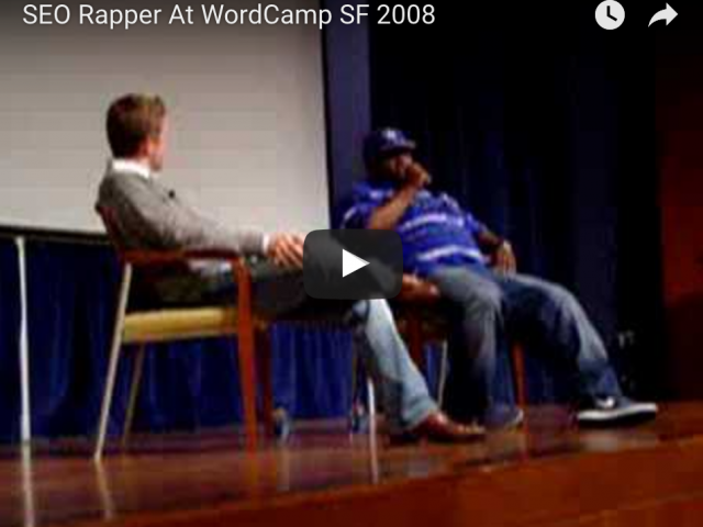 SEO Rapper At WordCamp SF 2008