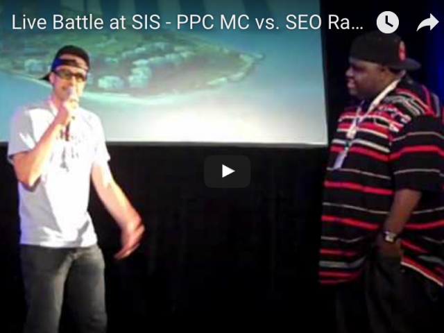 SEO Rapper vs PPC MC Live Battle at SIS